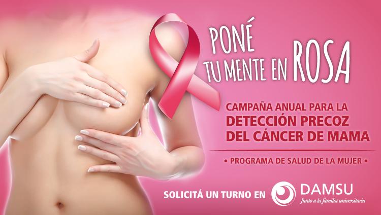 Mes de la concientización para la detección precoz del cáncer de mama